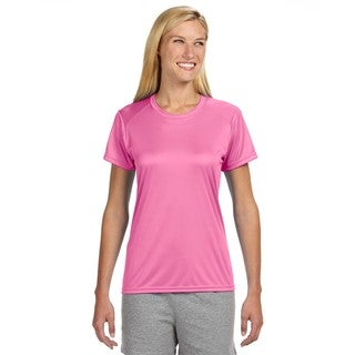 Shorts Sleeve Women's Shirt Pink Cooling Performance Crew