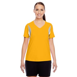 Short-sleeve Women's V-neck Sport Athletic Gold All Sport Jersey