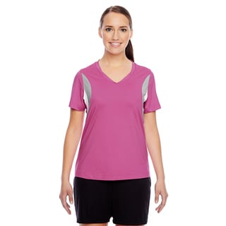 Short-sleeve Women's V-neck Sport Charity Pink All Sport Jersey