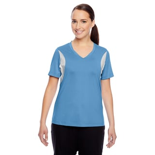 Short-sleeve Women's V-neck Sport Light Blue All Sport Jersey
