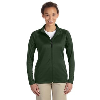 Stretch Women's Full-zip Forest Heather Tech-shell Compass