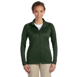Stretch Women's Full-zip Forest Heather Tech-shell Compass