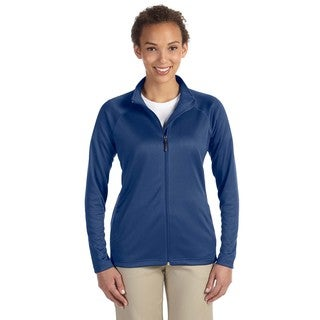 Stretch Women's Full-zip French Blue Heathered Tech-shell Compass
