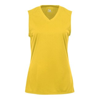 Sleeveless Women's Gold T-shirt