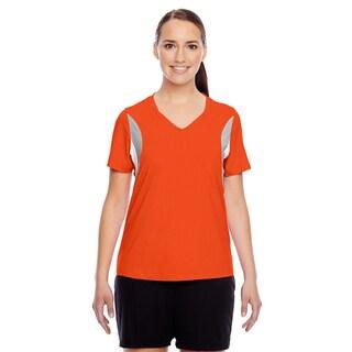 Short-sleeve Women's V-neck Sport Orange All Sport Jersey (More options available)
