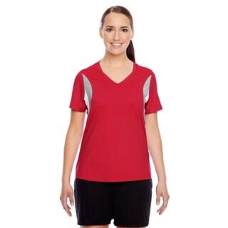 Short-sleeve Women's V-neck Sport Red All Sport Jersey