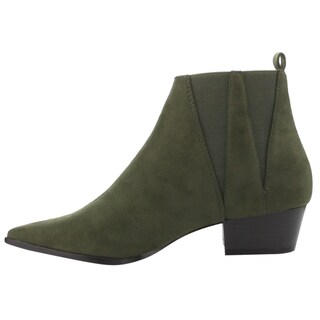 CAPE ROBBIN GD55 Women's Pointy Toe Elastic Chelsea Style Slip On Ankle Booties