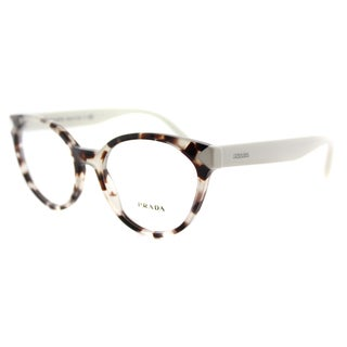 Prada Women's PR 01TV UAO1O1 Spotted Opal Brown Plastic Cat-eye Eyeglasses
