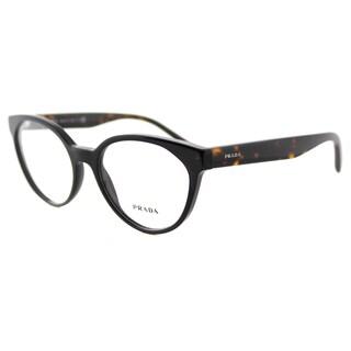 Prada Black Plastic Cat-Eye Eyeglasses