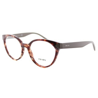 Prada Women's PR 01TV UE01O1 Spotted Brown Pink Plastic Cat-eye Eyeglasses