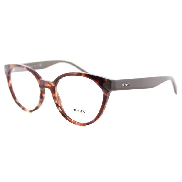 dcfaadaa0e5 Shop Prada Women s PR 01TV UE01O1 Spotted Brown Pink Plastic Cat-eye ...