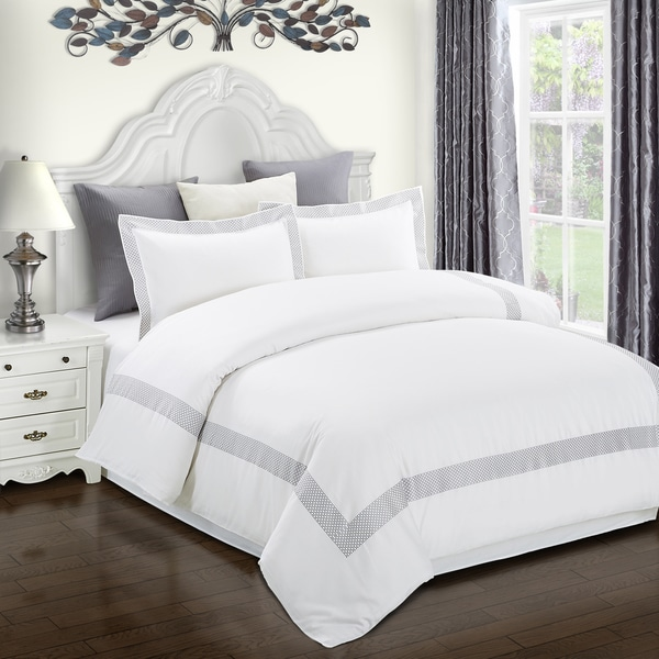 Superior Glenmont Embroidered Cotton Duvet Cover Set
