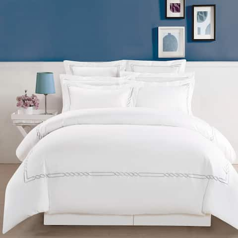 Miranda Haus Lorenz Embroidered Cotton Duvet Cover Set