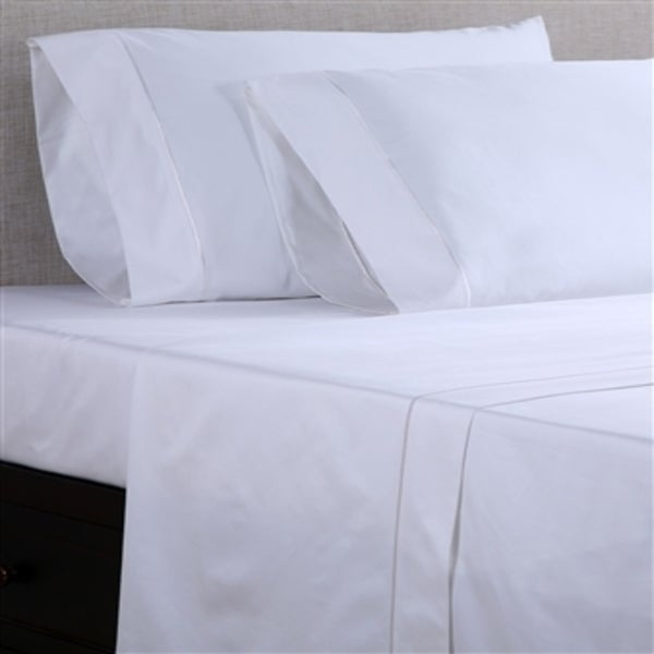 Charming Affluence Hospitality White 250 GSM Cotton/ Polyester Fitted Sheets (Set Of  12)