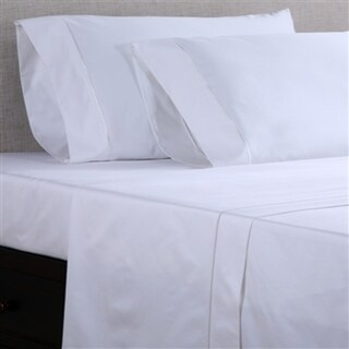 Affluence Hospitality White 250 GSM Cotton/ Polyester Fitted Sheets (Set of 12)