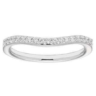 Boston Bay Diamonds 14k White Gold 1/6ct TDW Diamond Wedding Band (H-I, VS1-VS2)