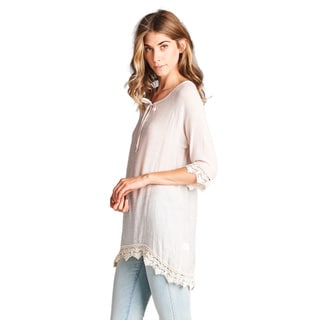 Orange Creek Women's Cream Tunic Top