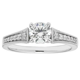 Boston Bay Diamonds 14k White Gold 7/8ct TDW Diamond Miligrain Ring (G-H, SI1-SI2)