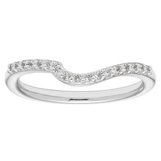 Boston Bay Diamonds 14k White Gold 1/10ct TDW Diamond Contour Wedding Band (H-I, SI1-SI2)