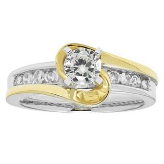 Boston Bay Diamonds 14K Two Tone Gold 3/4ct TDW Diamond Engagement Ring