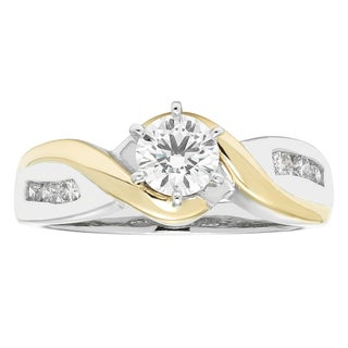 Boston Bay Diamonds 14k Two-tone Gold 5/8ct TDW Diamond Channel-set Ring (G-H, SI1-SI2)