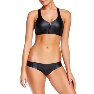 PilyQ Neo Reverse Black Full-cut Reversible Bikini Bottom