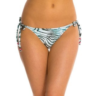 PilyQ Tanzania Polyester Metallic Full-cut Bikini Bottom