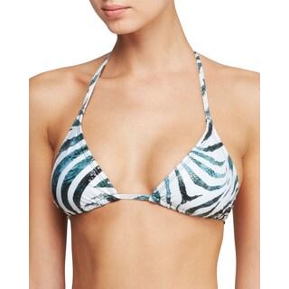 PilyQ Tanzania Metallic Elongated Tri Bikini Top