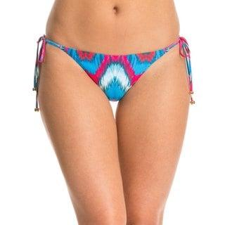 PIlyQ Mumbai Multicolor Polyester Geometric Print Tie Full Bikini Bottom