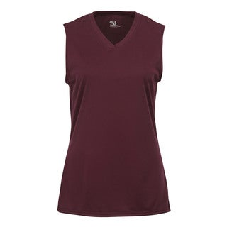 Sleeveless Women's Maroon Shirt