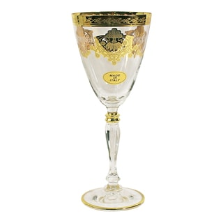 Francesca Series-Italy Gold Design Wine Goblets (Set of 6)