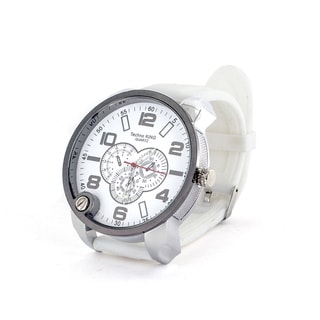 Faddism Men's Fashion Round Face Watch