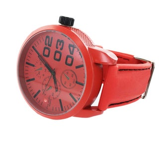 Faddism Men's Fashion Round Face with Dial Watch