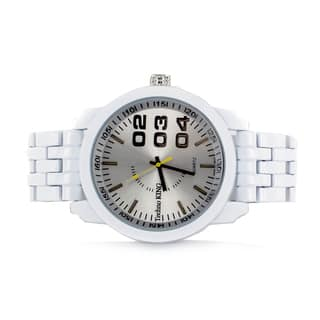 Faddism Men's Round Brushed Aluminum Face with Numerical Design Watch|https://ak1.ostkcdn.com/images/products/12268769/P19108359.jpg?impolicy=medium