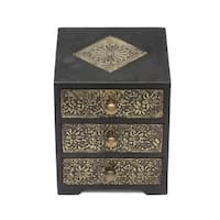 Handmade Golden Keepsake Box (India)