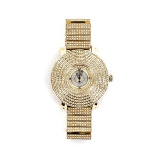 Faddism Men's Fashion Round-face Goldtone Watch