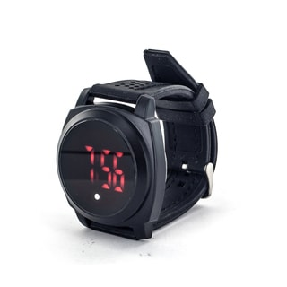 Faddism Men's Fashion Round Digital Readout Face Watch