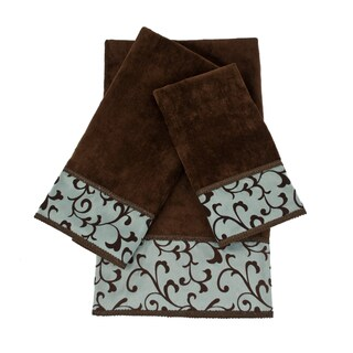 Sherry Kline Becall 3-piece Decorative Embellished Towel Set