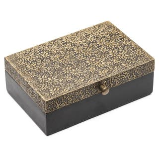 Handmade Golden Treasure Box - Large (India)|https://ak1.ostkcdn.com/images/products/12268786/P19108367.jpg?impolicy=medium