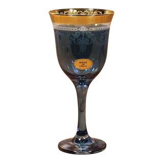 Lorren Home Trend Choice of Color Multicolored 6-piece Wine Goblet Set (Option: Blue Goblets Set of 6-Corona)