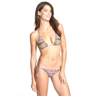 PilyQ Raja Animal Print Fully Lined Bikini Bottom