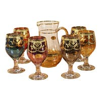 Lorren Home Trend Pitcher and Goblet Set