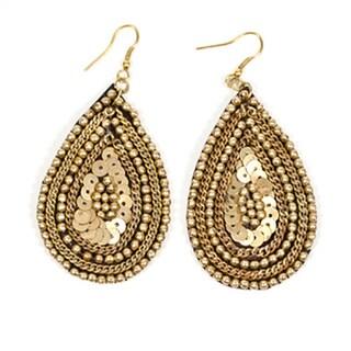Handmade Cleopatra Earrings - Gold (India)