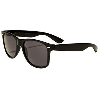 Mechaly Black Plastic Classic Wayfarer Unisex Sunglasses