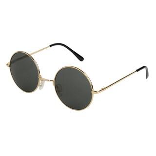 Mechaly Classic Gold Lennon-style Unisex Sunglasses