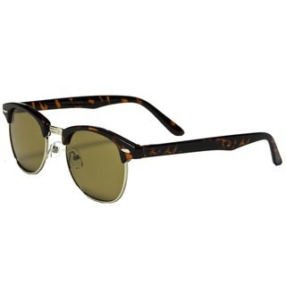 Mechaly Unisex Classic Clubmaster-style Tortoise Sunglasses