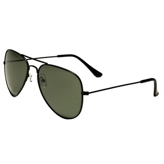 Mechaly Black Unisex Aviator Sunglasses