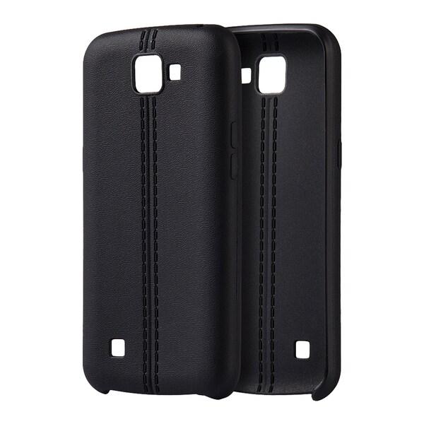 Shop LG K4 Spree Optimus Zone 3 Black TPU/Leather Slim