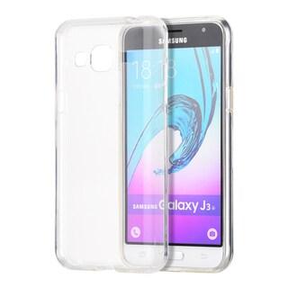 Samsung Galaxy Amp Prime J3 (2016) J320P Grey/Clear Skin Case
