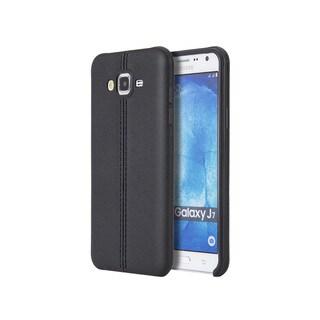 Samsung Galaxy J7 Slim Jacket Black TPU Phone Case with Leather Finish